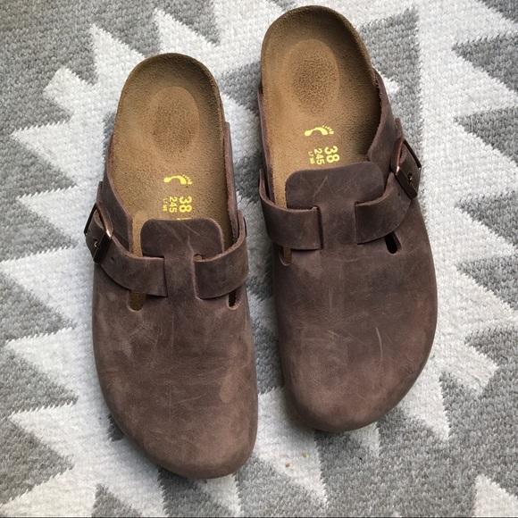 90a4d87b4f575c Birkenstock Shoes - Birkenstock Boston Oiled Leather Habana 38